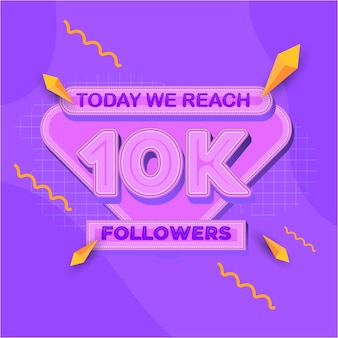 10000 followers square banner modern look
