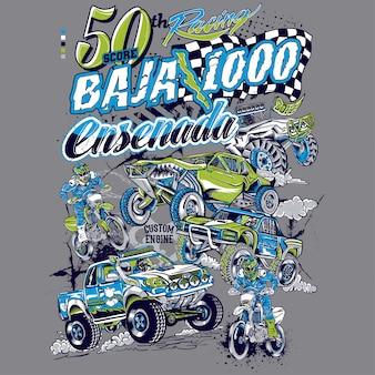 1000モーターレーシングカリフォルニアエンセナダ