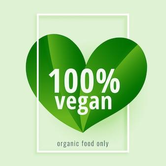 100% веганский. зеленое растение на основе веганской диеты