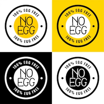 100%無卵または無卵ラベル