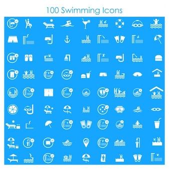 100水泳のアイコン
