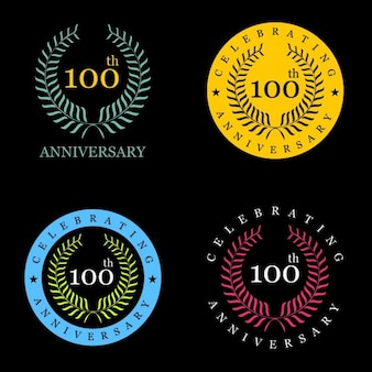 100 лет празднование лавровый венок