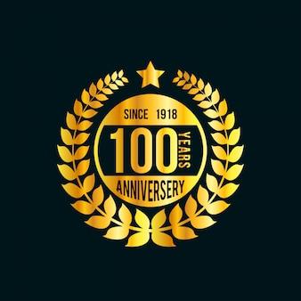 100年のお祝いのベクトル