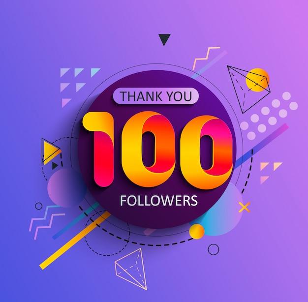 最初の100人のフォロワーありがとう