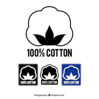 綿100%のラベル