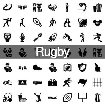 100 комплект регби иконки