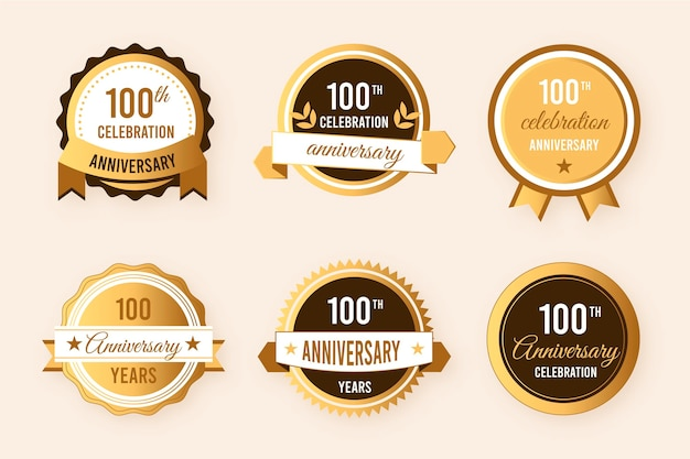 100th anniversary badge collection