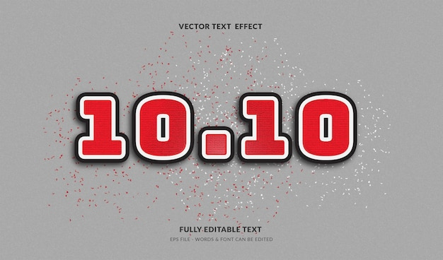1010 big sale with modern style editable text effect