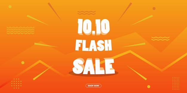 1010 flash sale promotion banner for your brand or business