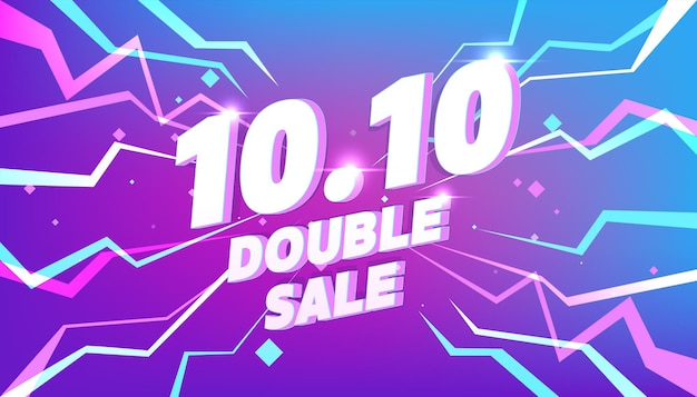 1010 online shopping day sale poster or flyer design