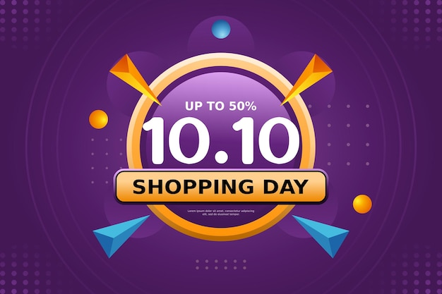 1010 shopping day banner template