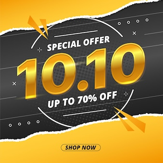 1010 торговый день распродажа баннер или дизайн флаера