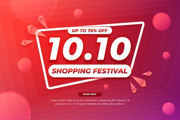 1010抽象的な形のショッピングフェスティバルの販売プロモーション