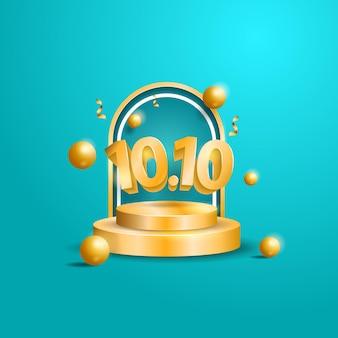 1010 вектор с 3d-иллюстрацией подиума для торгового баннера