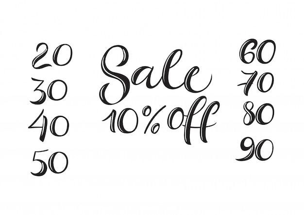 売り切れ10パーセントの手紙。セールデザイン要素。