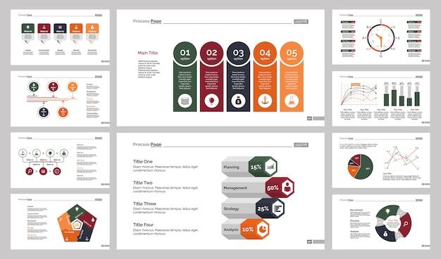 10種類の統計スライドテンプレートセット