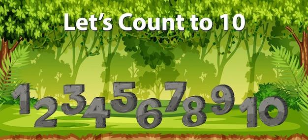10ジャングルシーンに数えます