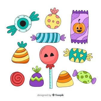 10月の伝統的な休日の色のお菓子