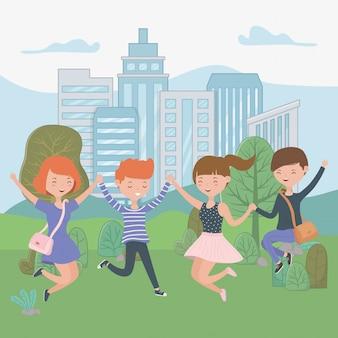 10代の男の子と女の子の漫画