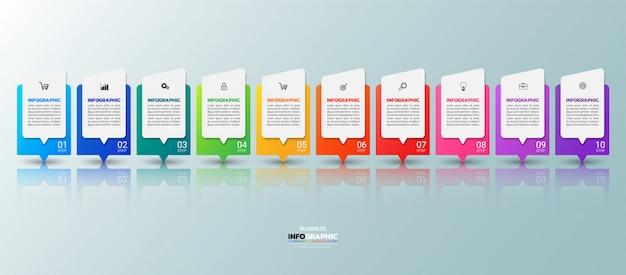 モダンビジネスインフォグラフィック10の手順