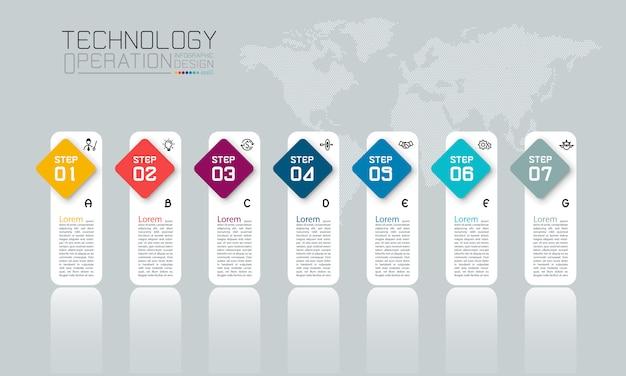 10ステップのビジネスインフォグラフィック。