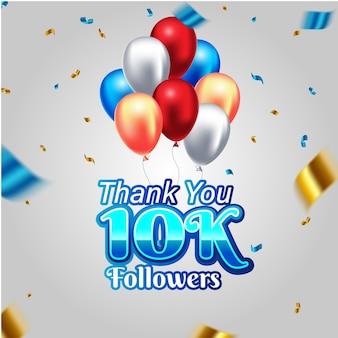 10k followers card banner template