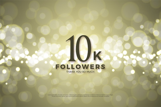 10k followers or subscribers with black numbers on a luxury gold background.