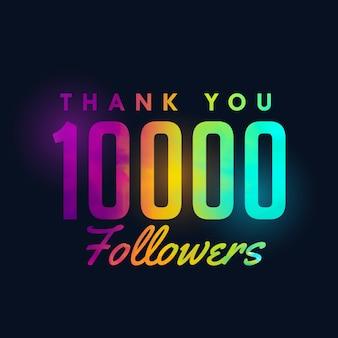 10k social media followers success template design