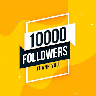 10k social media followers thank you post design