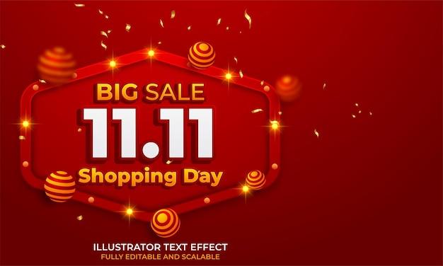 11.11 online shopping sale poster or flyer design