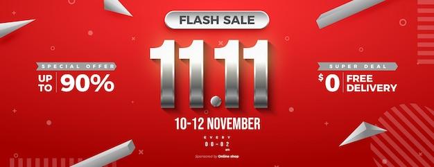 11 11 은색 번호가 있는 판매