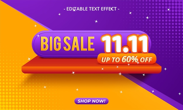 11.11 shopping day sale banner background
