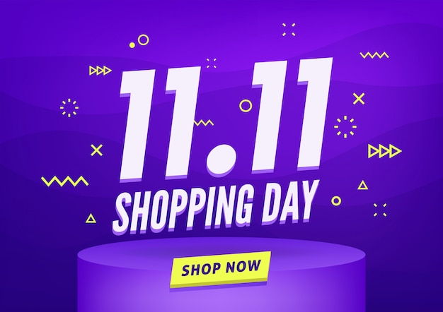 11.11 shopping day sale banner