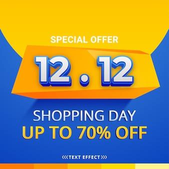 11.11 design di poster o volantini per la vendita del giorno dello shopping