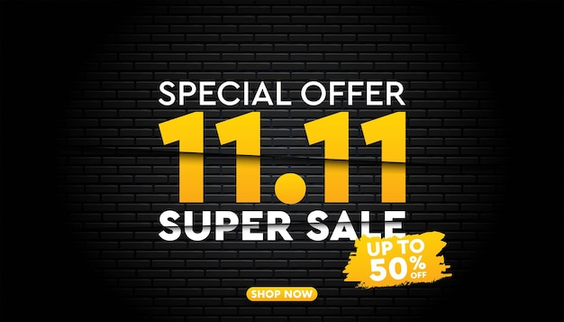 11 11 super sale    template.