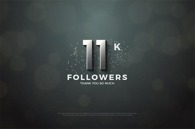 11 тыс. подписчиков с серебряными 3d-числами