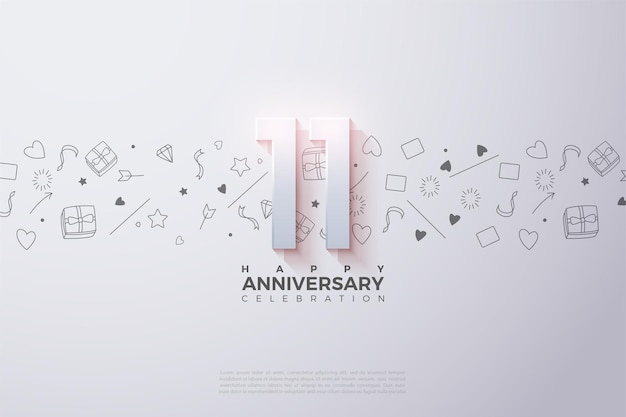 11-я годовщина с минимальными украшениями