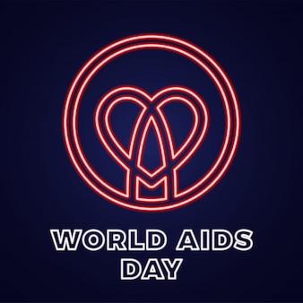 世界エイズデー12月1日テキスト付きのhiv感染のアイコン。