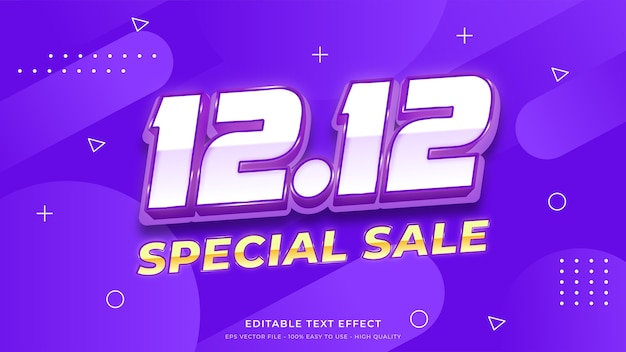 12.12 special sale typography   editable text effect