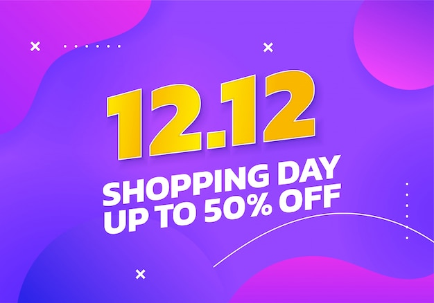 12.12 world shopping day up to 50% discount banner