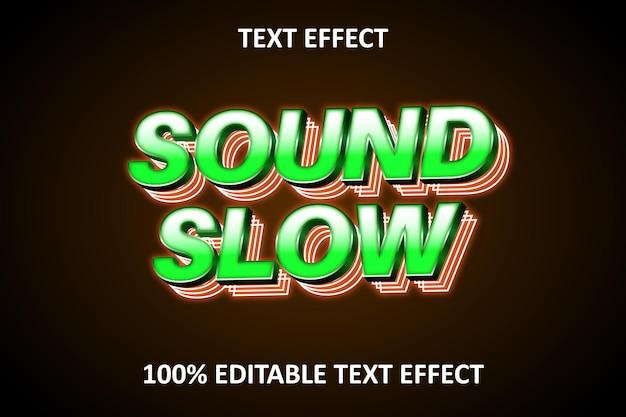 12 двойной неоновый редактируемый текстовый эффект оранжевый зеленый