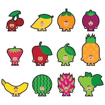 12 fruits mascot
