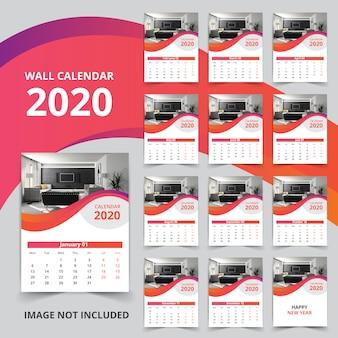 12 page wall calendar 2020