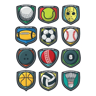 12 sport logo vector illustration