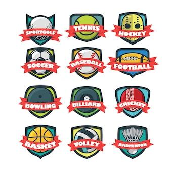 12 sport logo vector illustration