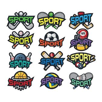 12 스포츠 로고 벡터