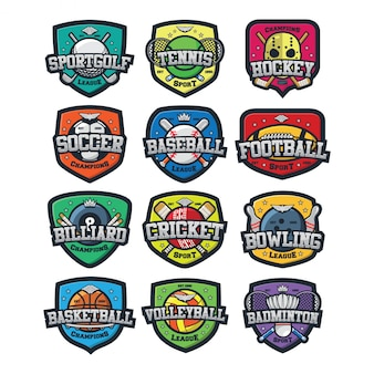 12スポーツロゴベクトル