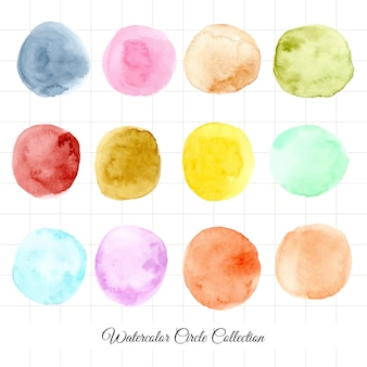 12 watercolor circle collection