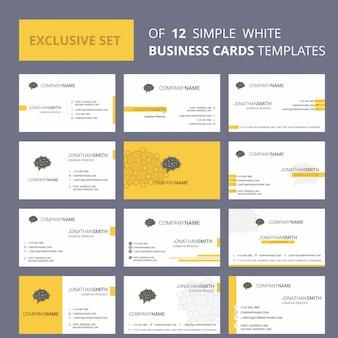 12頭の創造的なビジネスカードのセット