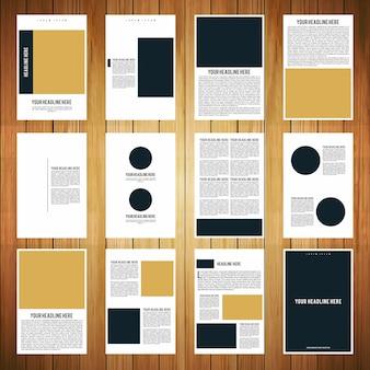 12ページのパンフレットブックテンプレート